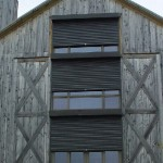 Rolling shutters on a special home
