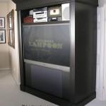 TV cabinet open